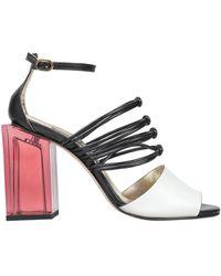 Manila Grace Sandals - White