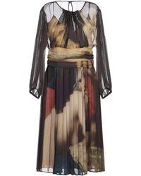 Moschino Vestido midi - Marrón