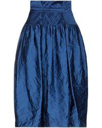 ODEEH Falda a media pierna - Azul