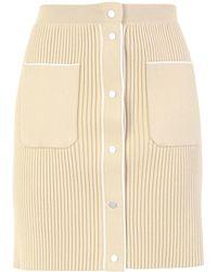 8 by YOOX Midi Skirt - Natural