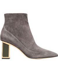 Diane von Furstenberg Ankle Boots - Gray