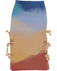 VIKI-AND Midi Skirt - Blue