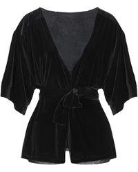 Satine Label Suit Jacket - Black