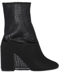 MM6 by Maison Martin Margiela Ankle Boots - Black