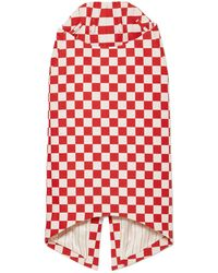 Pushbutton Knee Length Skirt - Red