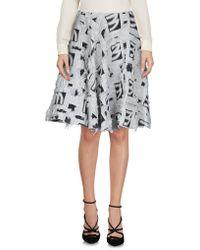 Marta Martino Knee Length Skirt - Gray
