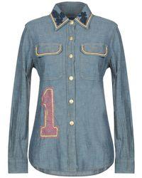 History Repeats Denim Shirt - Blue