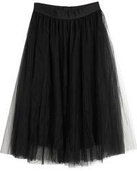Nude Midi Skirt - Black