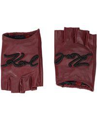 Karl Lagerfeld Gloves - Purple