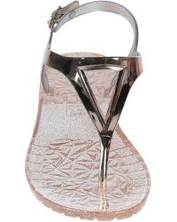 Silvian Heach Toe Post Sandals - Metallic