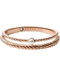 Fossil Ring - Metallic