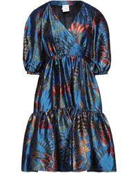 Stella Jean Midi Dress - Blue