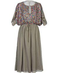 Manoush 3/4 Length Dress - Natural