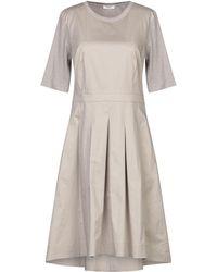 Peserico Short Dress - Gray