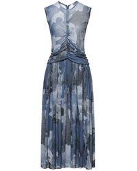 Victoria, Victoria Beckham Robe mi-longue - Bleu