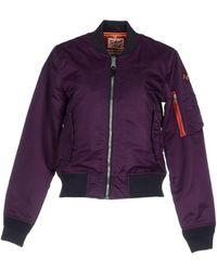 Schott Nyc Jacket - Purple