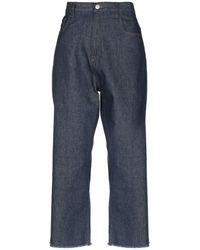 Haikure Pantacourt en jean - Bleu