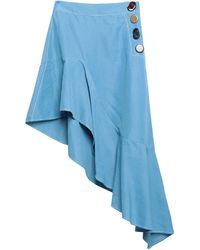 Rejina Pyo Knee Length Skirt - Blue
