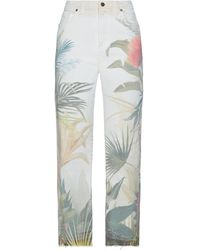 Roberto Cavalli Denim Trousers - White
