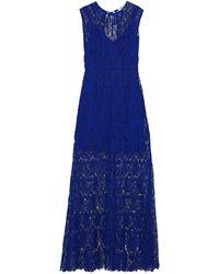 Diane von Furstenberg Robe longue - Bleu
