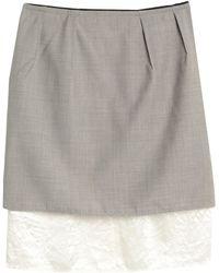 Golden Goose Deluxe Brand Knee Length Skirt - Grey