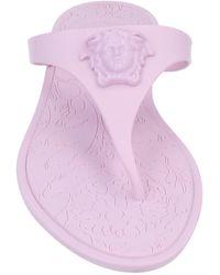 Versace Toe Post Sandals - Pink