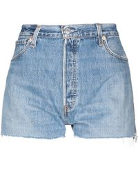 RE/DONE with LEVI'S Denim Shorts - Blue