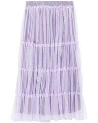 MY TWIN Twinset Midi Skirt - Purple