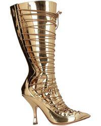 Y. Project Knee Boots - Metallic