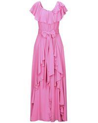 Hanita Long Dress - Pink