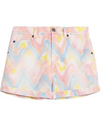 M Missoni Denim Shorts - Pink