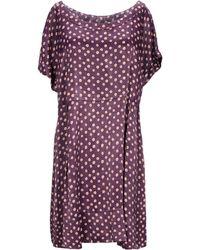 Manila Grace Short Dress - Purple