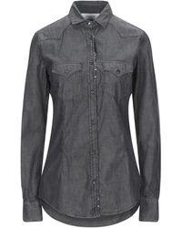 Aglini Denim Shirt - Black