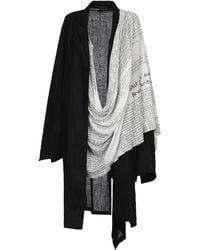 Yohji Yamamoto Overcoat - Black