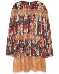 Anna Sui Kurzes Kleid - Mehrfarbig
