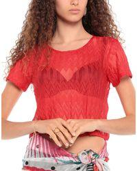Missoni Vestido de playa - Rojo