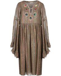 Manoush Knee-length Dress - Natural