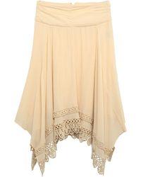 Étoile Isabel Marant Knee Length Skirt - Natural