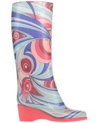 Emilio Pucci Knee Boots - Blue