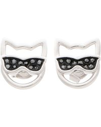 Karl Lagerfeld Earrings - Metallic