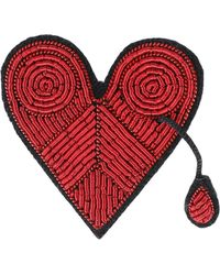 Macon & Lesquoy Brooch - Red