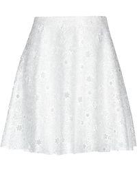 Giamba Knee Length Skirt - White
