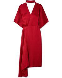 Roland Mouret Midi Dress - Red