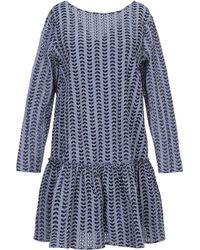 Aglini Kurzes Kleid - Blau