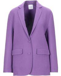 Agnona Suit Jacket - Purple