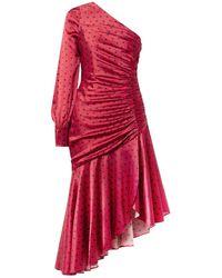 Haney Vestido midi - Rojo