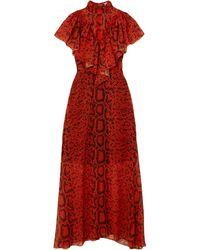 Preen By Thornton Bregazzi Vestido largo - Rojo