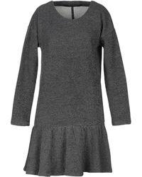 Manila Grace Short Dress - Gray