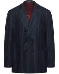 Brunello Cucinelli Manteau long - Bleu