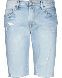 FRAME L'homme Cut Off Denim Shorts - Blue